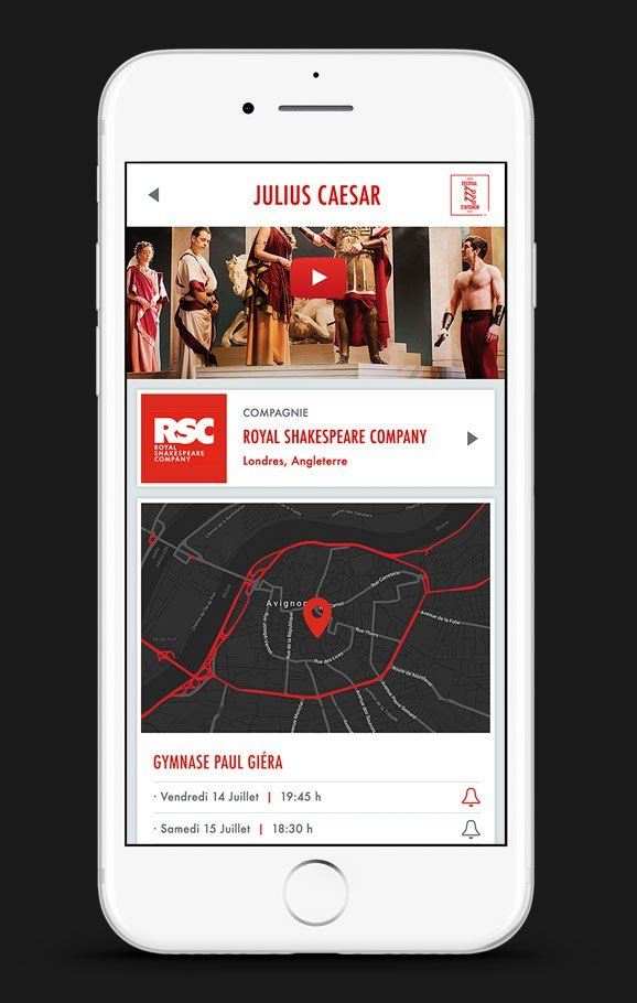 Customize your app to fit your festival's look, including your logo, background images and colours.