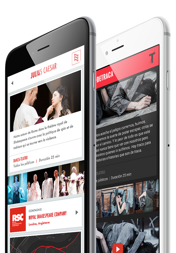 The premier platform to create the app for your theatre festival.