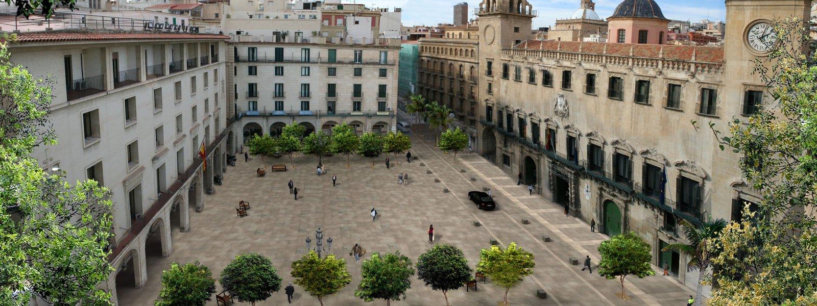Plaça Ajuntament, localització per a la representació d'espectacles