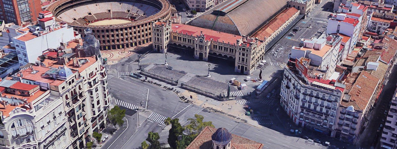 Esplanada Estació del Nord, localització per a la representació d'espectacles