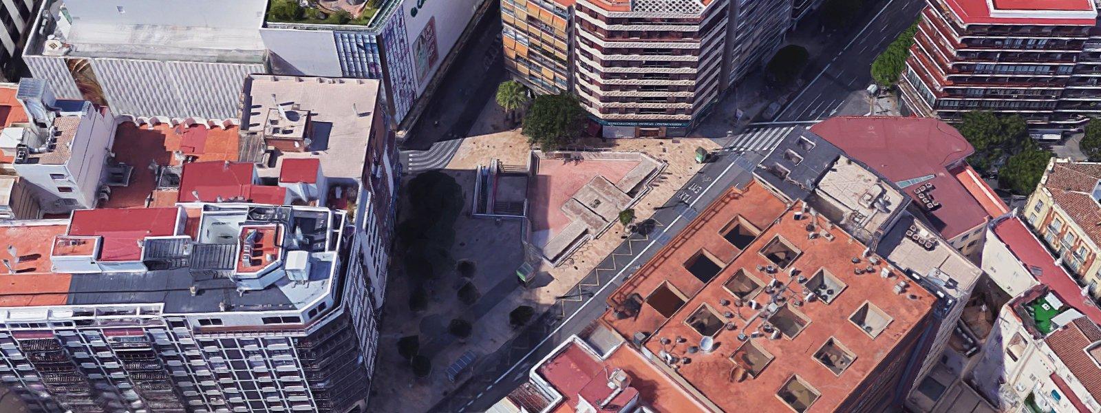 Plaça Pinazo, localització per a la representació d'espectacles