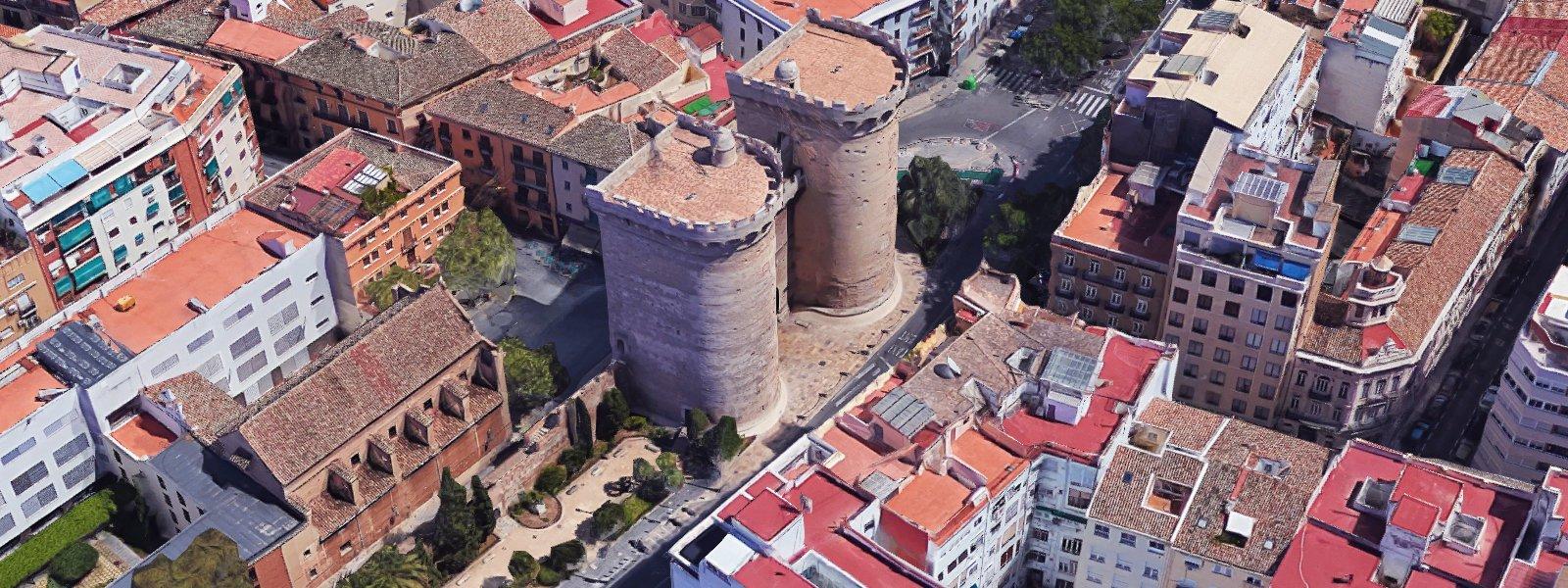 Torres de Quart, localització per a la representació d'espectacles